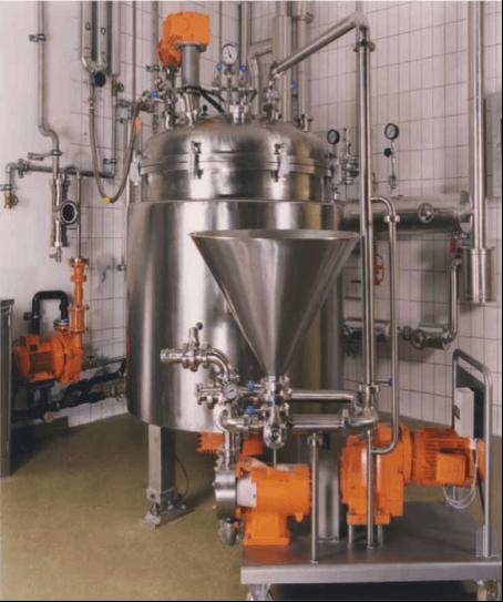 """Homogeneizador-mezclador-patentado; para incorporar productos """"difíciles"""" como en emulsiones; suspensiones; geles; en un proceso líquido"""