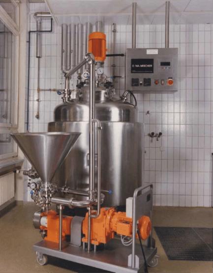 """Homogeneizador-mezclador-patentado; para incorporar productos """"difíciles"""" como en emulsiones; suspensiones; geles;"""