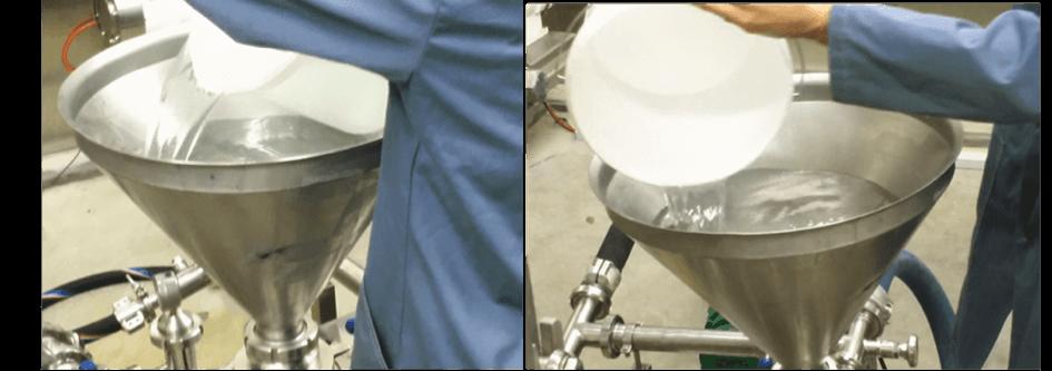 """Homogeneizador-mezclador-patentado; para incorporar productos """"difíciles"""" en un proceso líquido, como en emulsiones; suspensiones; geles;"""