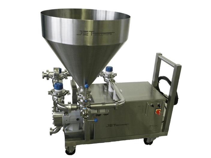 """La última tecnología de un Homogeneizador-mezclador-patentado; para incorporar productos """"difíciles"""" en un proceso líquido, como en jarabes, emulsiones, suspensiones, geles"""
