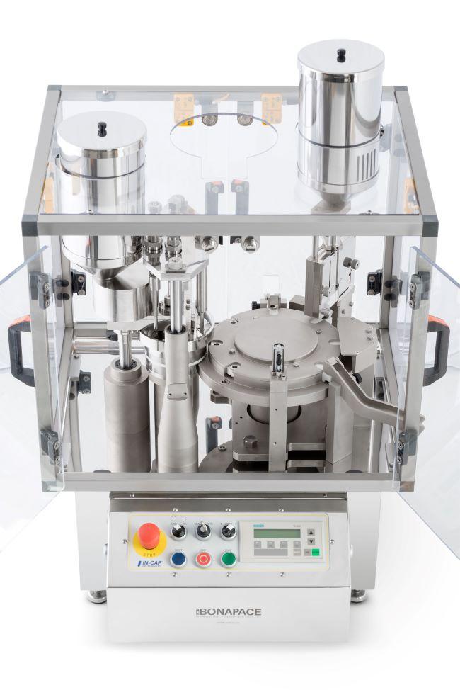 Encapsuladora automática de sobremesa para polvo, pellets, liquido, tabletas, cápsulas y combinados.
